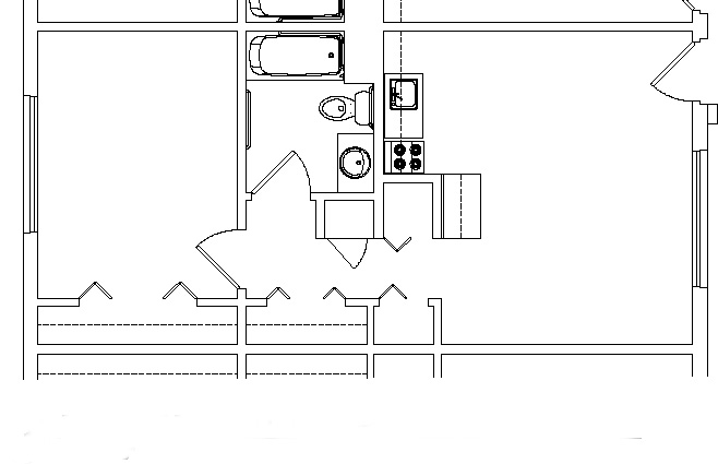 Rolling Hill Independent Living apartment floor plan sample